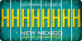New Mexico H Cut License Plate Strips (Set of 8) LPS-NM1-008