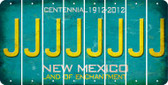 New Mexico J Cut License Plate Strips (Set of 8) LPS-NM1-010