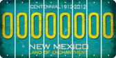 New Mexico O Cut License Plate Strips (Set of 8) LPS-NM1-015