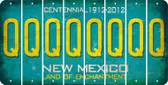 New Mexico Q Cut License Plate Strips (Set of 8) LPS-NM1-017