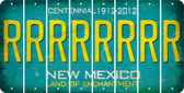 New Mexico R Cut License Plate Strips (Set of 8) LPS-NM1-018