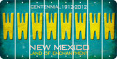 New Mexico W Cut License Plate Strips (Set of 8) LPS-NM1-023