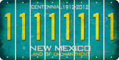 New Mexico 1 Cut License Plate Strips (Set of 8) LPS-NM1-028