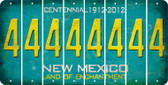 New Mexico 4 Cut License Plate Strips (Set of 8) LPS-NM1-031
