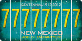 New Mexico 7 Cut License Plate Strips (Set of 8) LPS-NM1-034