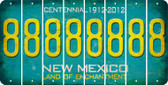 New Mexico 8 Cut License Plate Strips (Set of 8) LPS-NM1-035