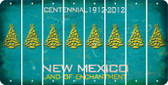 New Mexico CHRISTMAS TREE Cut License Plate Strips (Set of 8) LPS-NM1-077