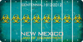 New Mexico BIO HAZARD Cut License Plate Strips (Set of 8) LPS-NM1-084
