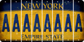 New York A Cut License Plate Strips (Set of 8) LPS-NY1-001