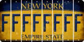 New York F Cut License Plate Strips (Set of 8) LPS-NY1-006