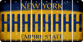 New York H Cut License Plate Strips (Set of 8) LPS-NY1-008
