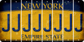 New York J Cut License Plate Strips (Set of 8) LPS-NY1-010