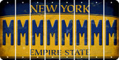 New York M Cut License Plate Strips (Set of 8) LPS-NY1-013