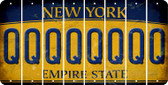 New York Q Cut License Plate Strips (Set of 8) LPS-NY1-017