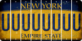 New York U Cut License Plate Strips (Set of 8) LPS-NY1-021