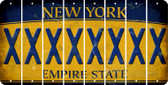 New York X Cut License Plate Strips (Set of 8) LPS-NY1-024