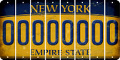 New York 0 Cut License Plate Strips (Set of 8) LPS-NY1-027