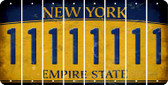 New York 1 Cut License Plate Strips (Set of 8) LPS-NY1-028