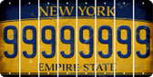 New York 9 Cut License Plate Strips (Set of 8) LPS-NY1-036