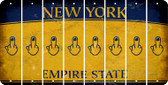 New York MIDDLE FINGER Cut License Plate Strips (Set of 8) LPS-NY1-091