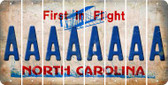 North Carolina A Cut License Plate Strips (Set of 8) LPS-NC1-001