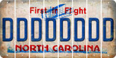 North Carolina D Cut License Plate Strips (Set of 8) LPS-NC1-004