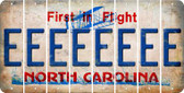 North Carolina E Cut License Plate Strips (Set of 8) LPS-NC1-005