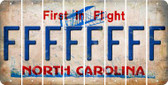North Carolina F Cut License Plate Strips (Set of 8) LPS-NC1-006