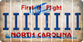 North Carolina I Cut License Plate Strips (Set of 8) LPS-NC1-009