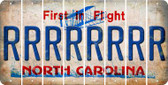 North Carolina R Cut License Plate Strips (Set of 8) LPS-NC1-018