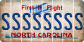 North Carolina S Cut License Plate Strips (Set of 8) LPS-NC1-019