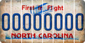 North Carolina 0 Cut License Plate Strips (Set of 8) LPS-NC1-027