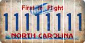 North Carolina 1 Cut License Plate Strips (Set of 8) LPS-NC1-028