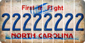 North Carolina 2 Cut License Plate Strips (Set of 8) LPS-NC1-029