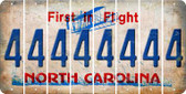 North Carolina 4 Cut License Plate Strips (Set of 8) LPS-NC1-031