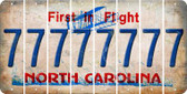 North Carolina 7 Cut License Plate Strips (Set of 8) LPS-NC1-034