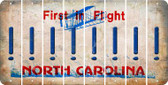 North Carolina EXCLAMATION POINT Cut License Plate Strips (Set of 8) LPS-NC1-041