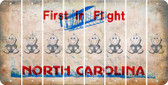 North Carolina BABY BOY Cut License Plate Strips (Set of 8) LPS-NC1-066
