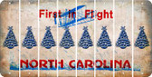 North Carolina CHRISTMAS TREE Cut License Plate Strips (Set of 8) LPS-NC1-077