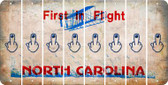 North Carolina MIDDLE FINGER Cut License Plate Strips (Set of 8) LPS-NC1-091