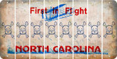 North Carolina SKULL Cut License Plate Strips (Set of 8) LPS-NC1-092
