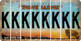 North Dakota K Cut License Plate Strips (Set of 8) LPS-ND1-011