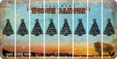 North Dakota CHRISTMAS TREE Cut License Plate Strips (Set of 8) LPS-ND1-077