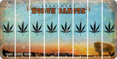 North Dakota POT LEAF Cut License Plate Strips (Set of 8) LPS-ND1-090