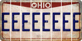 Ohio E Cut License Plate Strips (Set of 8) LPS-OH1-005