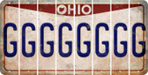 Ohio G Cut License Plate Strips (Set of 8) LPS-OH1-007