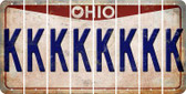 Ohio K Cut License Plate Strips (Set of 8) LPS-OH1-011