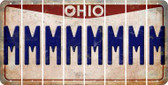 Ohio M Cut License Plate Strips (Set of 8) LPS-OH1-013