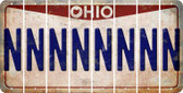 Ohio N Cut License Plate Strips (Set of 8) LPS-OH1-014