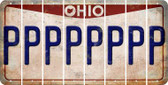 Ohio P Cut License Plate Strips (Set of 8) LPS-OH1-016